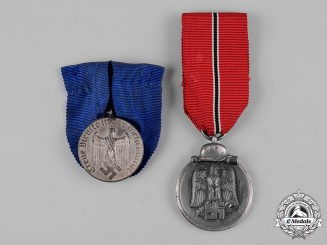 Germany, Wehrmacht. A Pair of Wehrmacht Service Medals