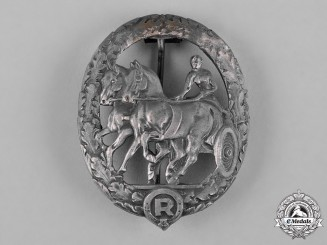Germany, Third Reich. A Horse Driver's Badge, Silver Grade, by Steinhauer & Lück