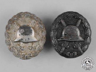 Germany, Imperial. A Pair of First War Wound Badges
