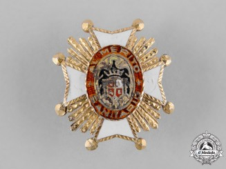 Spain, Franco Period. A Miniature Order of Public Health, Grand Cross Star c.1950