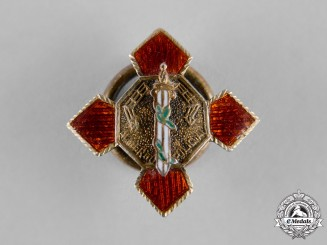 Spain, Franco Period. A Miniature Order of Police Merit, Cross with Red Distinction c.1965