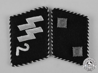Germany, SS. A Set of Standarte 2 Germania Oberscharführer Collar Tabs, SS-RZM Tagged
