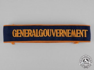 Germany, Third Reich. A Generalgouvernement Cuff Title