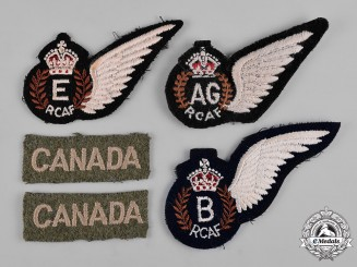 Canada. A Lot of Five Armed Forces Badges