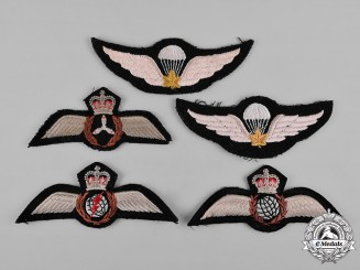 Canada. A Lot of Five Royal Canadian Air Force Badges