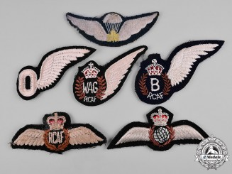 Canada. A Lot of Six Royal Canadian Air Force Badges