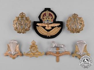 Canada, United Kingdom. A Lot of Seven Cap Badges