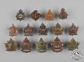 Canada. A Lot of Fourteen First and Second War Collar Tabs