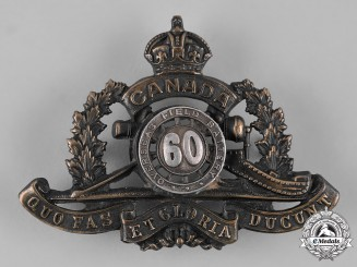 Canada. An Officer's 60th Overseas Field Battery Cap Badge