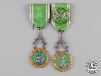 Laos, Kingdom. Two Orders of Agricultural Merit, II Class Officer and III Knight