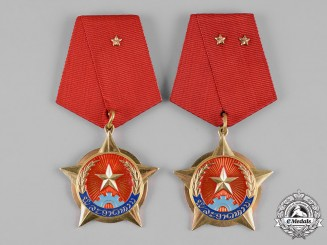 Laos, Democratic Republic. Two Medals for Bravery, II and III Classes