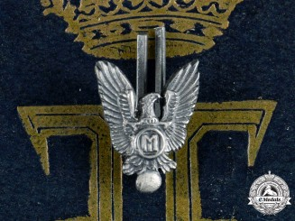 Romania, Kingdom. A Pilot's Badge Case with Miniature, by Joseph Resch