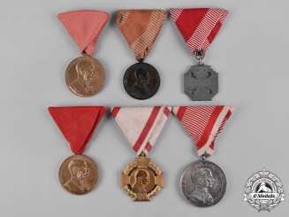Austria, Empire. A Lot of Six Medals & Awards