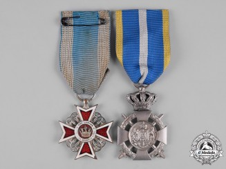 Romania, Kingdom. Two Decorations & Awards
