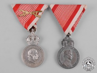 Austria, Imperial. A Pair of Imperial Austrian Medals