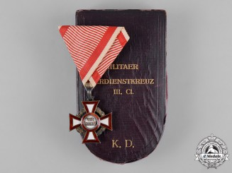 Austria, Imperial. A Military Merit Cross, III Class with Case, by V Mayers S