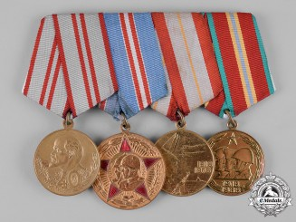 Russia, Soviet Union. A Veteran's Group of Four Armed Forces Jubilee Medals