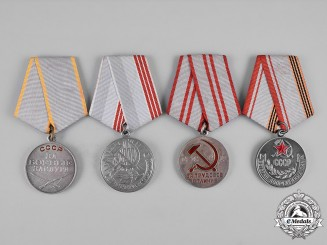 Russia, Soviet Union. A Lot of Four Medals