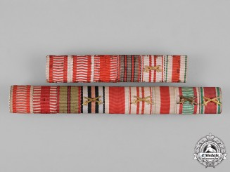 Austria-Hungary, Empire. Two First War Ribbon Bars