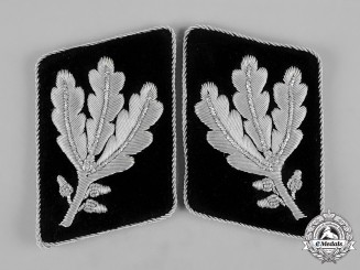 Germany, SS. A Pair of Gruppenführer Collar Tabs