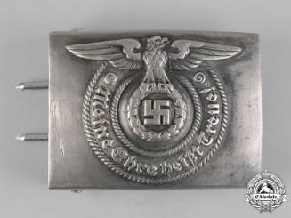 Germany, SS. An EM/NCO's Belt Buckle, by Overhoff & Cie
