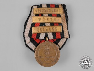 Prussia, Kingdom. A War Commemorative Medal of 1870/71 with Campaign Clasps