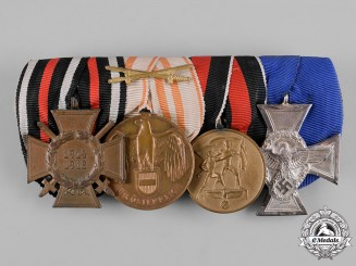Germany, Third Reich. A First and Second World War Period Medal Bar, with Austrian Awards
