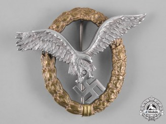 Germany, Luftwaffe. A Combined Pilot & Observer Badge, by C.E. Juncker
