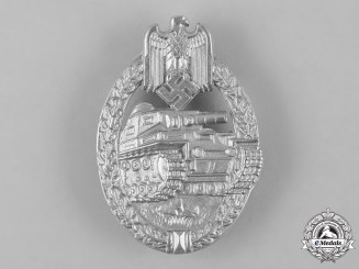 Germany, Heer. A Panzer Assault Badge, Silver Grade, by E. Ferdinand Wiedmann