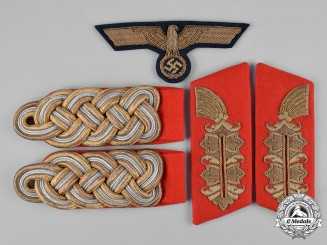 Germany, Heer. A Set of Army Generalmajor Shoulder Boards, Collar Tabs, & Breast Eagle