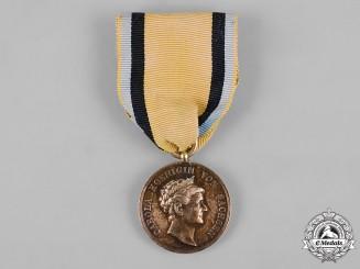 Saxony, Kingdom. A Carola Medal in Silver