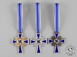 Germany, Third Reich. A Group of Honour Cross of the German Mother, All Grades