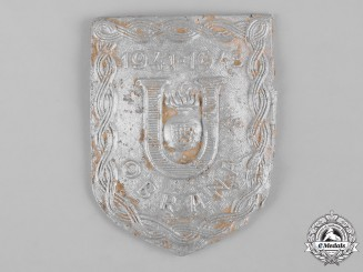 Croatia, Republic. A Ustasha Defence Badge, c. 1941-1943, Ground Found