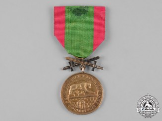 Anhalt, Duchy. A House Order of Albert the Bear, Golden Merit Medal with Swords
