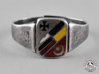 Germany, Imperial. A First War Central Powers Silver Ring