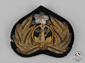 Japan, Empire. A Naval Officer Summer Uniform Visor Cap Insignia