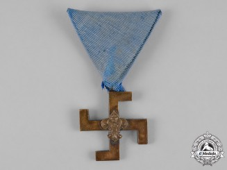 Yugoslavia, Kingdom. A Very Scarce Boy Scouts Merit Medal, c. 1935