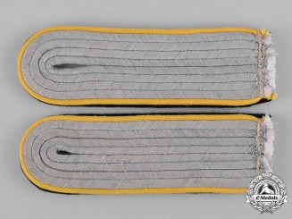Germany, SS. A Set of Waffen-SS Signals Untersturmführer Shoulder Boards
