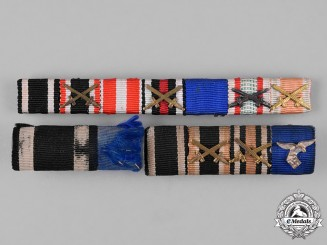 Germany. A Lot of First and Second War Period Medal Ribbon Bars