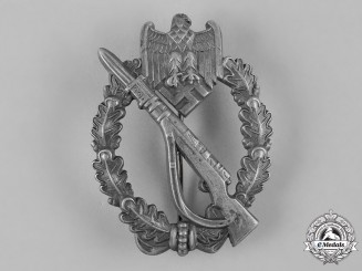 Germany, Wehrmacht. An Infantry Assault Badge, Silver Grade, by Franke & Co.