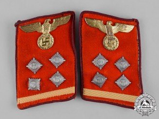 Germany, NSDAP. A Set of Gau-Level Obergemeinschaftsleiter Collar Tabs