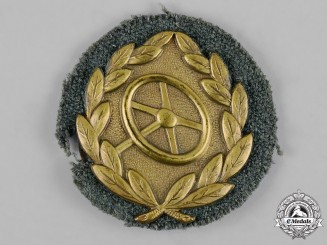 Germany, Wehrmacht. A Driver Proficiency Badge in Bronze
