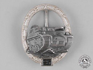 Germany, Federal Republic. A Panzer Assault Badge, Silver Grade for 25 Engagements, 1957 Reissue