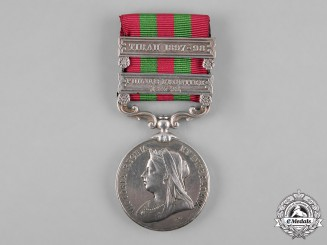United Kingdom. India Medal 1895-1902, to Sergeant J.R. Scarr, 2nd Battalion, King's Own Yorkshire Light Infantry