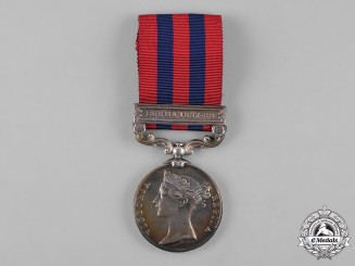 United Kingdom. India General Service Medal 1854-1895, to Private J. Green, 2nd Battalion, Norfolk Regiment