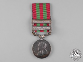 United Kingdom. India Medal 1895-1902, to Private N. Jacob, 2nd Battalion, Royal Irish Regiment