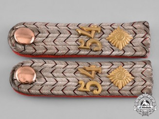 Germany, Imperial. A Set of Württemberg 54th Infantry Brigade Leutnant Shoulder Boards