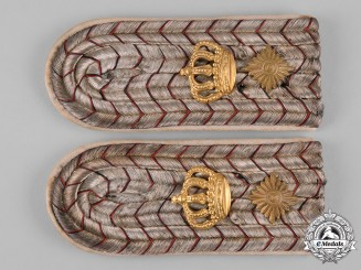Germany, Imperial. A Set of Infantry Oberleutnant Shoulder Boards