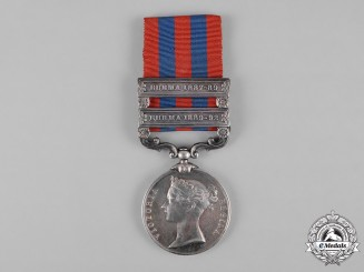 United Kingdom. An India General Service Medal 1854-1895, 1st Battalion, Hampshire Regiment