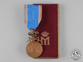Romania, Kingdom. A Long Service Medal, III Class Bronze Grade with Swords, c.1940